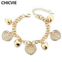 CHICVIE New Christmas gift Heart Shape Life Tree Charm Bracelet Bangle F... - $9.89