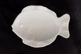 "Vintage OMC Japan Decorative Ceramic Fish Shaped Trinket Spoon Teabag 5""... - $11.88"