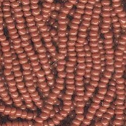 11/0 Seed Bead Rocaille Full Hank Brown 4