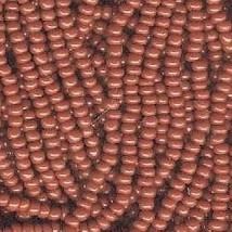 Seed bead rocaille full hank  brown   4  thumb200