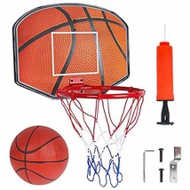 Basketball Hoop for Kids Over The Door Backboard with Metal Rim Sport Indoor Out