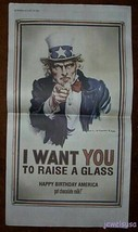 Uncle Sam Wants You Got Chocolate Milk Print Ad 2002 - $22.72