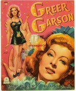 VINTAGE UNCUT 1944 GREER GARSON PAPER DOLLS~#1 REPRODUCTION~BEAUTIFUL/GLAMOROUS - $18.99