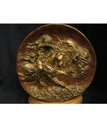 Bronze BUFFALO HUNT collector plate GREGORY PERILLO The Plainsmen RARE - $149.00