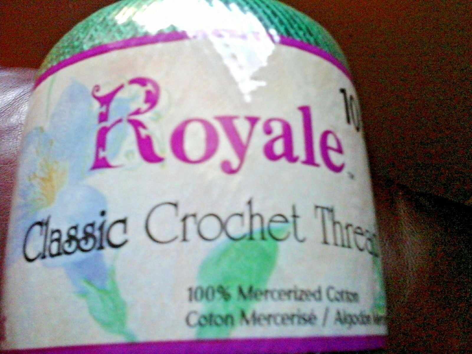 jp coats royal classic 100% cotton crochet thread color 449 forest green size 10 - $10.88