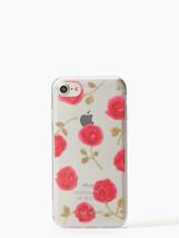 Kate Spade Nwt Hazy Rose Transparent IPHONE 7 Étui Téléphone Floral Housse - $31.68