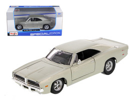 1969 Dodge Charger R/T Hemi Silver 1/25 Diecast Car Model by Maisto - $30.46
