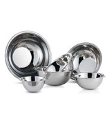 Nesting Stainless Steel Bowls Kitchen Mixing Bowl Set 6 Pc Meal Food Pre... - $30.49