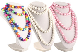 50s Retro Pop Beads Variety Fun Pack - 1 Bag Each Rainbow, Pink, & White... - $12.99