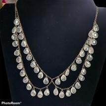 Rose Quartz Faceted Teardrop Women's Necklace Pink Gemstones - $29.69