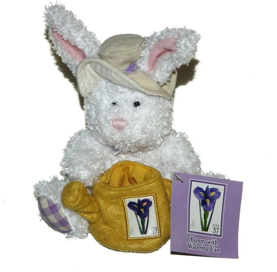 USPS Bunny Rabbit w/Watering Can Hat Plush NWT 2006 6 inch Stuffed Animal Lovey - $24.70