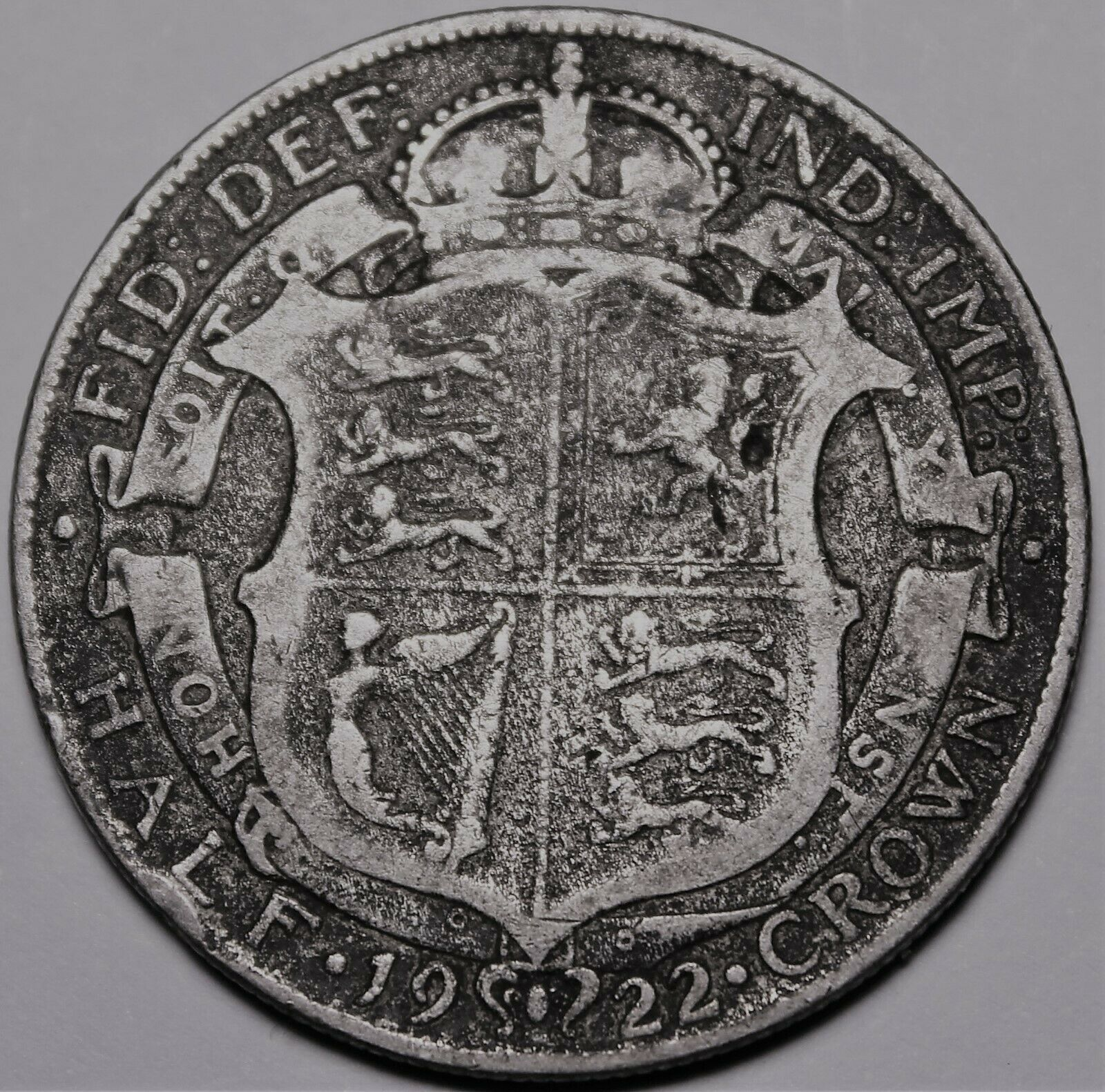 Primary image for Great Britain Half Crown, 1922 Silver~George V