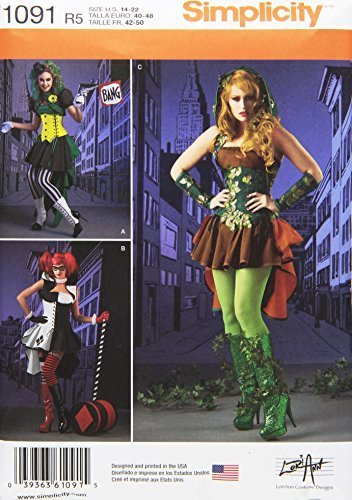 Primary image for SIMPLICITY 1091 Misses' Super Villainess Costumes Sewing Pattern, Size R5 (14-16