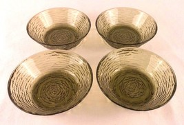 Set of 4 Vintage Anchor Hocking Soreno Avacado Green 6 inch Cereal Bowls... - $11.69