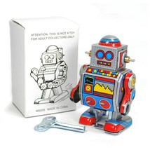 """TIN TOY ROBOT 3"""" Collectible Wind Up Cute Tiny Small Mini D Walking Retr... - $9.95"""