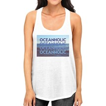 Oceanholic Women White Graphic Tanks Lightweight Tropical Tank Top - $14.99