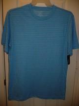 George Men's Textured Crew Tee Shirt MEDIUM 38-40 Light Blue Super Soft  - $10.39