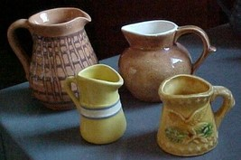"""4--vintage creamers/pitchers-a """"Orcas Island Pottery"""" +++ - $5.39"""
