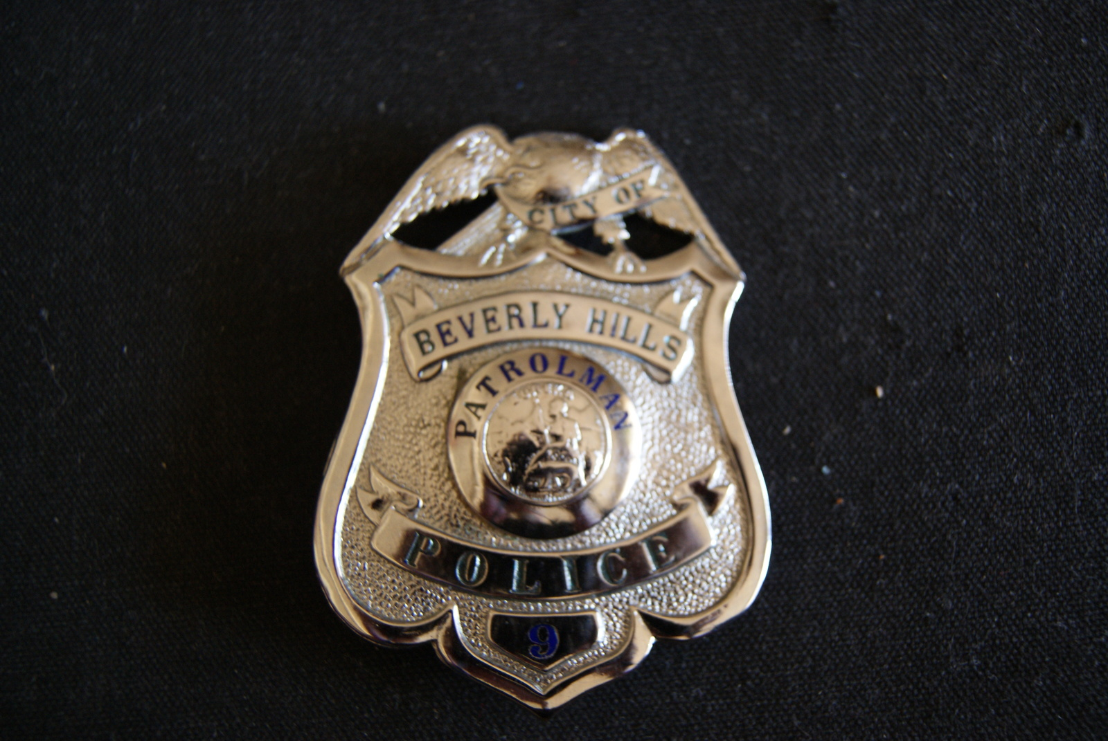 Beverly Hills Cal,Scarce Antique Police Badge W/ Wallet,.Hmk L.A Rubber Stamp Co image 3