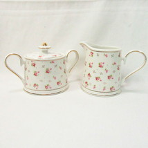 Grace's Teaware Victorian Rose Rosebuds 3-PC Cream and Sugar with Lid - $32.00