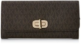 MICHAEL MICHAEL KORS Sullivan Logo Signature Leather Wallet- Brown