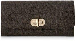 MICHAEL MICHAEL KORS Sullivan Logo Signature Leather Wallet- Brown