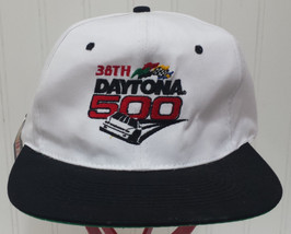 NWT NASCAR Racing 1996 Snapback Hat Vintage White 38th Daytona 500 KC Ca... - $28.53