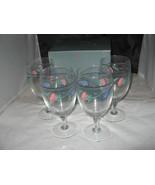 (4) Lenox POPPIES ON BLUE Iced Beverage Set w/box- 16oz - $18.00