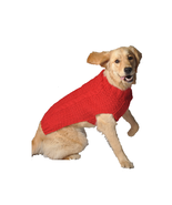 Red Cable Knit Dog Sweater Chilly Dog Hand Knit Wool  XXS-XXXL Pet Puppy... - $30.68+