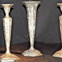 Candlesticks and Dutch Plate Trumpet Vase No. 53 Vil Antique Ornate image 2