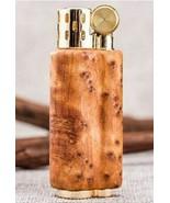 Vintage Wood Gasoline Lighter Windproof Gas Petrol Cool Gift Smoking Met... - $79.32+
