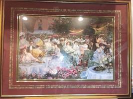 """Le Dinner A L'Hotel Ritz Paris"" Pierre-Georges Jeanniot  -Signed Framed ""1904"" - $544.50"