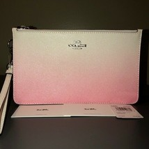 COACH OMBRE CROSBY DOUBLE ZIP LEATHER CLUTCH WRISTLET NWT - €87,19 EUR