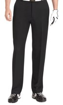 Mens Izod Golf Slacks Dress Pants Slim Fit Size 36 X 30 BLACK NEW - $48.49