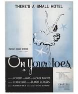 Ballet Dancer Vintage Sheet Music On Your Toes 1936 Music Sheet Ballet P... - $14.99