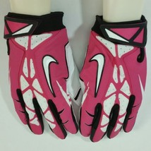 Nike Vapor Jet 2.0 Pink White Black Football Gloves Mens Adult Sz XL NEW!!! - $35.28