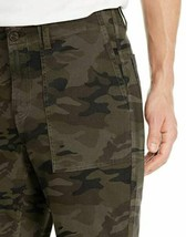 Goodthreads Men 28Wx28 Athletic Fit Stretch Canvas Camo Utility Pants Green image 2