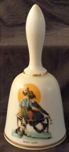 Puppy Love, Norman Rockwell - 1977 - Danbury Mint Collectible Bell - VGC COA - $26.72