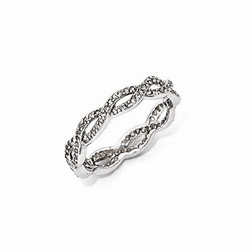 Primary image for Sterling Silver CZ Twist Ring , Size: 7