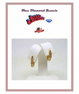 14k Earrings Exciting & Stylish 14k Solid Gold and Diamond 1/2 CT Hinged... - $225.00