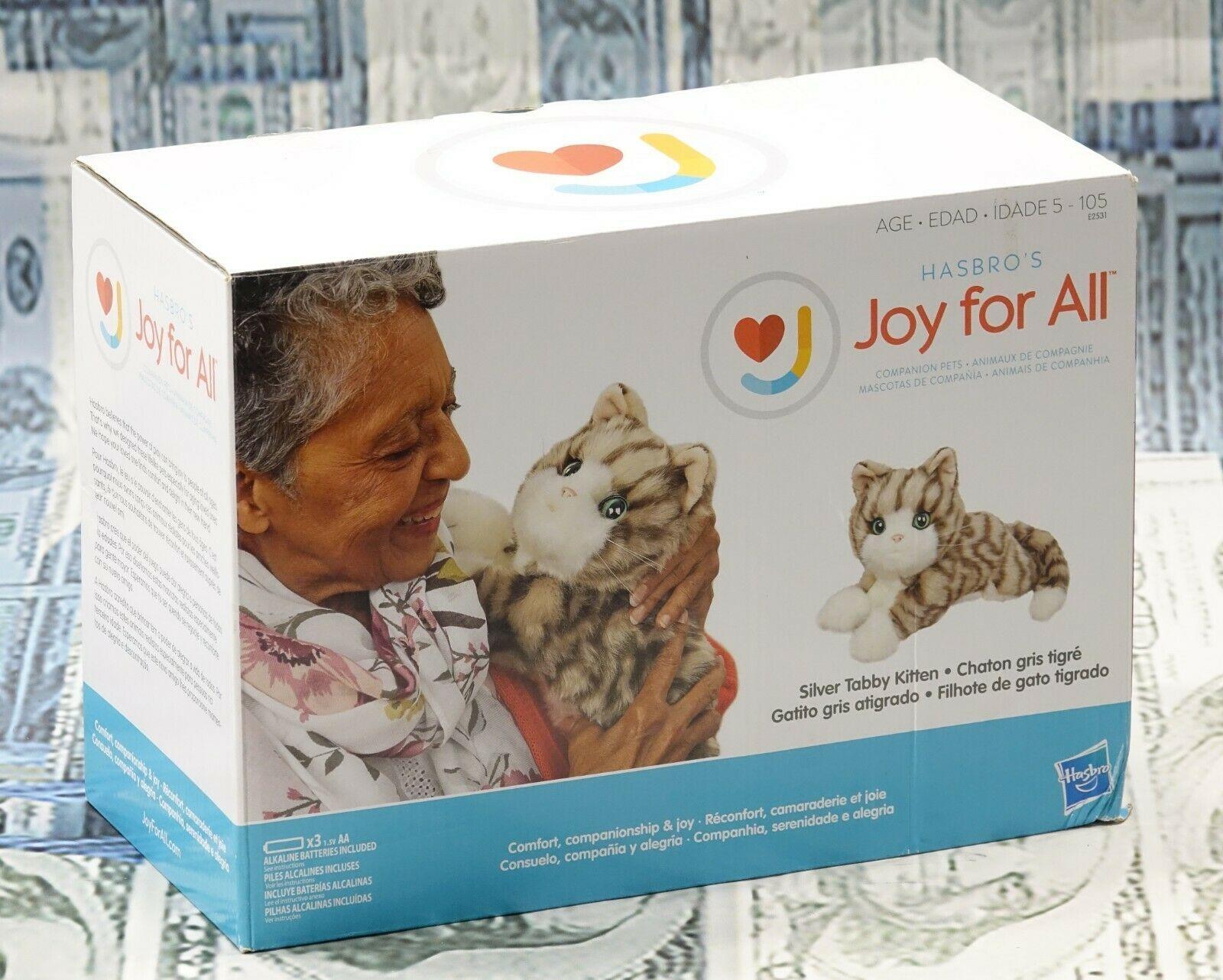 HASBRO'S JOY FOR ALL Companion Pets Silver Tabby Kitten E2531 New - $79.19