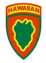 US Army Hawaiian Infantry Division 4'' Sticker Military Armed Forces - $9.89