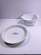 2 Vintage Corning Ware Pieces P-309 9x1.25 & P-1 3/4-B 1.75 QT - $28.78