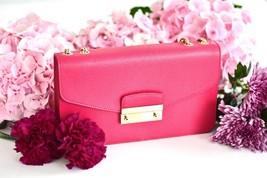 Furla Julia Chain Handbag Saffiano Leather Shoulder Bag Pochette $348 - $133.96