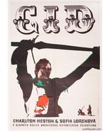 EL CID Movie Poster Sophia Loren Charlton Heston 1969 Karel Machalek Art... - $318.00