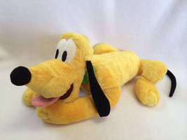 """Disney Store Exclusive Plush Laying Pluto Puppy Dog Green Collar Beans 16"""" - $12.99"""