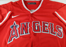 MIKE TROUT / AUTOGRAPHED LOS ANGELES ANGELS RED PRO STYLE BASEBALL JERSEY / COA image 3
