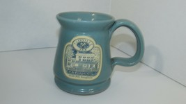 Deneen Pottery blue coffee mug cup Fairville Inn Chadds Ford PA Brandywi... - $14.84
