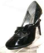 "Delicious 4 1/2"" HEEL BLACK PUMPS WITH SIDE BOW WOMEN'S US SIZE 8 MEDIUM... - $4.00"