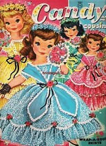 VINTAGE UNCUT 1961 CANDY & HER COUSINS PAPER DOLLS~#1 REPRODUCTION~ADORA... - $18.75